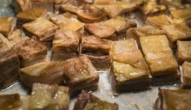 Κοιλιά χοιρινού κρέατος με τα μήλα Στοκ φωτογραφία με δικαίωμα ελεύθερης χρήσης