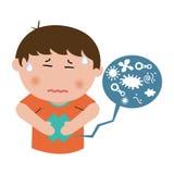 Κοιλιακός πόνος παιδιών Στοκ φωτογραφία με δικαίωμα ελεύθερης χρήσης