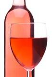 κοκκινίστε κρασί γυαλιού μπουκαλιών Στοκ Φωτογραφίες