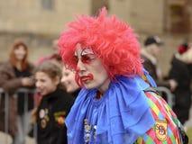 Κοκκινομάλλης κλόουν στην παρέλαση καρναβαλιού, Στουτγάρδη στοκ φωτογραφίες με δικαίωμα ελεύθερης χρήσης