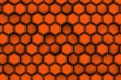 Κοκκινωπά hexagons για την καυτή έννοια Στοκ φωτογραφίες με δικαίωμα ελεύθερης χρήσης