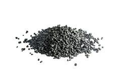 Κοκκοποιημένος άνθρακας που απομονώνεται στο άσπρο υπόβαθρο Στοκ Εικόνα