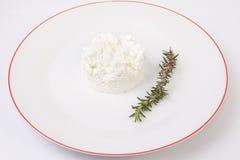Κοκκοποιημένο τυρί εξοχικών σπιτιών με το δεντρολίβανο Στοκ Εικόνα