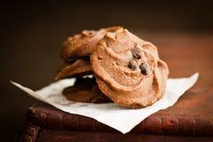 Κοκκώδη μπισκότα σοκολάτας Στοκ Εικόνες