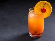 Κοκτέιλ ανατολής Tequila στο σκοτεινό υπόβαθρο πετρών με το διάστημα αντιγράφων Στοκ εικόνες με δικαίωμα ελεύθερης χρήσης