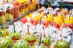 Κοκτέιλ φρούτων στην αγορά Στοκ Εικόνες