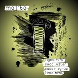 Κοκτέιλ Mojito στο ύφος grunge Στοκ Εικόνες