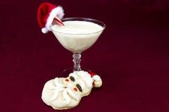 Κοκταίηλ εγγ-νογκ και μπισκότα για Santa στοκ εικόνα με δικαίωμα ελεύθερης χρήσης