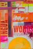 κολάζ έργου τέχνης Στοκ φωτογραφία με δικαίωμα ελεύθερης χρήσης