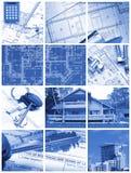 κολάζ αρχιτεκτονικής στοκ εικόνα