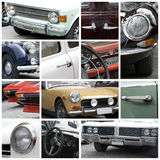 κολάζ αυτοκινήτων παλαιό Στοκ εικόνα με δικαίωμα ελεύθερης χρήσης