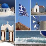κολάζ Ελλάδα Στοκ Εικόνα