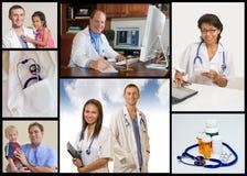 κολάζ ιατρικό Στοκ Φωτογραφίες