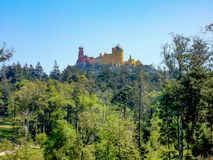 κολάζ ιστορικοί σημαντικοί τουρίστες sintra της Πορτογαλίας σημείου θέσεων pena πάρκων παλατιών μουσείων εθνικοί που ταξιδεύουν π στοκ φωτογραφίες με δικαίωμα ελεύθερης χρήσης