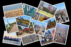 Κολάζ καρτών του Τόκιο Στοκ εικόνες με δικαίωμα ελεύθερης χρήσης