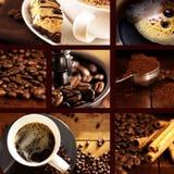 κολάζ καφέ στοκ φωτογραφίες