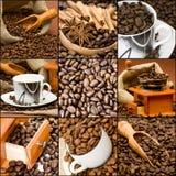 κολάζ καφέ Στοκ εικόνα με δικαίωμα ελεύθερης χρήσης