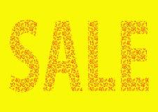 Κολάζ κειμένων πώλησης έκπτωσης Στοκ φωτογραφία με δικαίωμα ελεύθερης χρήσης