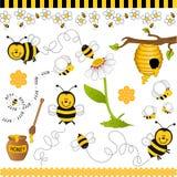κολάζ μελισσών ψηφιακό ελεύθερη απεικόνιση δικαιώματος