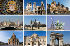 κολάζ Παρίσι Στοκ Εικόνα