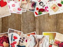 Κολάζ της αγάπης και του ειδυλλίου Στοκ εικόνες με δικαίωμα ελεύθερης χρήσης