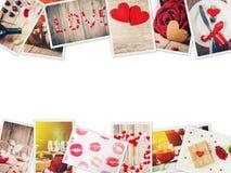 Κολάζ της αγάπης και του ειδυλλίου Στοκ Εικόνα
