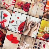 Κολάζ της αγάπης και του ειδυλλίου Στοκ φωτογραφίες με δικαίωμα ελεύθερης χρήσης