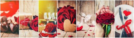 Κολάζ της αγάπης και του ειδυλλίου Στοκ Εικόνες