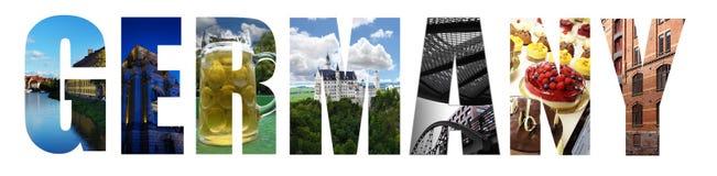 Κολάζ της Γερμανίας στο λευκό Στοκ φωτογραφία με δικαίωμα ελεύθερης χρήσης