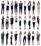 Κολάζ της επιτυχούς σύγχρονης επιχειρηματία Απομονωμένος στο λευκό στοκ φωτογραφία με δικαίωμα ελεύθερης χρήσης
