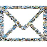 Κολάζ των εικόνων ταξιδιού - φάκελος ταχυδρομείου Στοκ φωτογραφίες με δικαίωμα ελεύθερης χρήσης