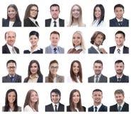 Κολάζ των πορτρέτων των επιτυχών υπαλλήλων που απομονώνονται στο λευκό στοκ φωτογραφία με δικαίωμα ελεύθερης χρήσης