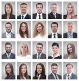 Κολάζ των πορτρέτων των νέων επιχειρηματιών και της επιχειρηματία στοκ εικόνες με δικαίωμα ελεύθερης χρήσης