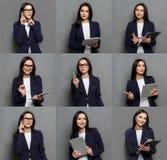 Κολάζ των συγκινήσεων επιχειρησιακών γυναικών Στοκ εικόνες με δικαίωμα ελεύθερης χρήσης