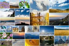 Κολάζ των φωτογραφιών φύσης και ταξιδιού Στοκ Φωτογραφίες
