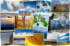 Κολάζ των φωτογραφιών φύσης Στοκ Φωτογραφίες