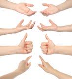 Κολάζ των χεριών γυναικών στοκ φωτογραφία
