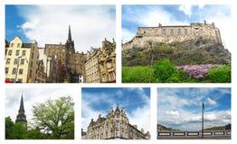 Κολάζ φωτογραφιών του Εδιμβούργου Σκωτία στοκ φωτογραφία με δικαίωμα ελεύθερης χρήσης