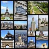 Κολάζ φωτογραφιών του Παρισιού Στοκ Εικόνες