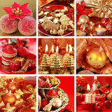 κολάζ Χριστουγέννων Στοκ φωτογραφίες με δικαίωμα ελεύθερης χρήσης