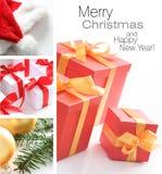 κολάζ Χριστουγέννων στοκ φωτογραφίες