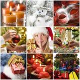 κολάζ Χριστουγέννων Στοκ εικόνες με δικαίωμα ελεύθερης χρήσης