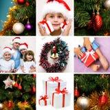 κολάζ Χριστουγέννων Στοκ Εικόνα