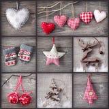 κολάζ Χριστουγέννων Στοκ Εικόνες