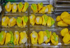 Κολλώδες ρύζι με το jackfruit στοκ εικόνες