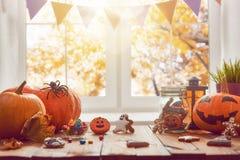 Κολοκύθα, γλυκά και μπισκότα στοκ εικόνες
