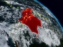 Κολομβία τη νύχτα διανυσματική απεικόνιση