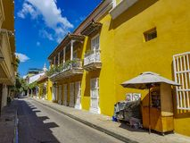 Κολομβιανή όμορφη ΠΟΛΗ Καρχηδόνα Στοκ φωτογραφία με δικαίωμα ελεύθερης χρήσης