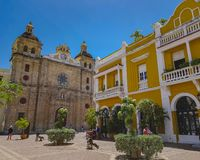 Κολομβιανή όμορφη ΠΟΛΗ Καρχηδόνα Στοκ φωτογραφίες με δικαίωμα ελεύθερης χρήσης