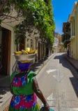 Κολομβιανή όμορφη ΠΟΛΗ Καρχηδόνα Στοκ Εικόνες
